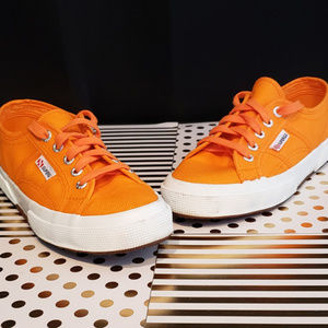 Superga Neon Orange Sneakers